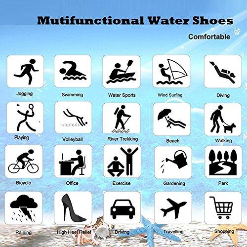 ECOTISH Scarpe da ginnastica Unisex Scarpe da Acqua Scarpe da Calcio Aqua Barefoot per Beach Pool Surfing Yoga Donna e Scarpe Uomo per Nuotare, Camminare, Lago, Spiaggia Blu2