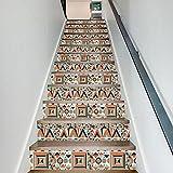 QQA Treppe Decals Wasserdicht DIY Selbstklebend Entfernbar Hawaiisch Kreativ Mauer Aufkleber Zuhause Dekor 18 Cm X 100 Cm X 13 Stück