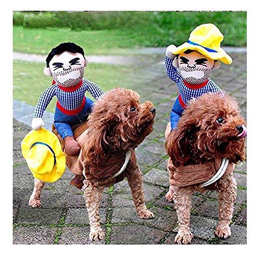 Sotoboo Pet Costumes Bekleidung Hund Kostüm Kleidung Pet Suit Cowboy Rider Style Hunde Tragetasche Kostüm Tragen Stil Knight Geschirr Kleidung mit Hut