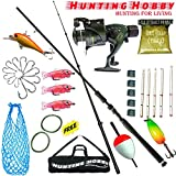 #9: Fishing Spinning Rod,Reel,Accessories Complete Kit (5.5Feet)