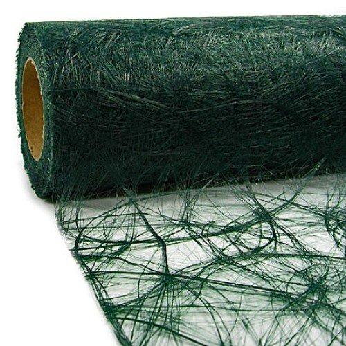 25 m x 30 cm Sizoweb® Vlies Original Tischband Tischläufer dunkelgrün grün tannengrün für Weihnachten, Hochzeit ... (Hochzeit Günstige Tischläufer Für)
