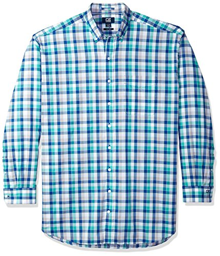 Cutter & Buck Herren Large Plaid and Check Easy Care Collared Shirts Button Down Hemd, Bolt Dylan, 2X Groß -