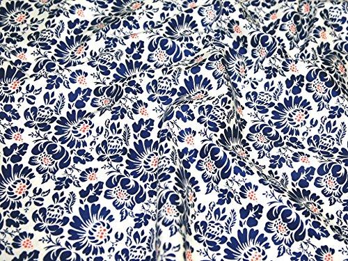 Paisley Bitte Collection Baumwolle Quilten Stoff-Weiß Tapisserie-Fat Quarter (50,8x 55,9cm) -