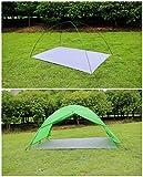 GEERTOP Schutzplane Zeltplanen Zeltunterlage - 210 X 260 CM (360g) - 20D leichte wasserdicht für Zelt Wanderungen Camping Picknick (210x260 cm) -