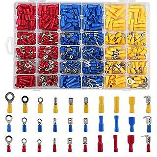 LIHAO 480x Isolierte Kabelschuhe Anschlussklemme Drahtklemmen Quetschverbindern Steckverbinder Crimpverbinder Sortiment Kit