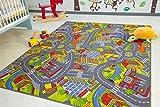 Kinder Teppich City - Straßen und Spiel Teppich, 220x300 cm