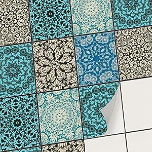 creatisto Mosaik-Fliesen Fliesenaufkleber Fliesenfolie - Klebe Folie für Wandfliesen | Klebefliesen Deko Folie für Fliesen in Küche u. Bad/Badezimmer (20x25 cm | 6 -Teilig)