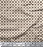 Soimoi Weiß Samt Stoff künstlerisch geometrisch Stoff