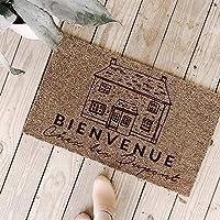 Paillasson Bienvenue Entrée Intérieur ou Extérieur Personnalisable - Ajoutez votre Nom & Votre Message - Cadeau Crémaillère, Anniversaire - 40x60cm