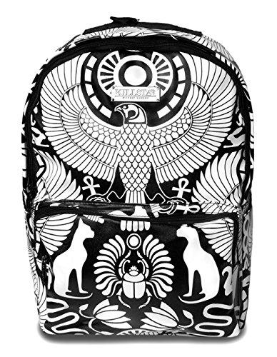 Kill Star ltext occulto zaino in ecopelle - zaino Vulture occulto egiziano simboli horo Bastet