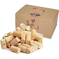 ELES VIDA Bouchons à vin - pour décorer, embellir et bricoler - Bouchons en liège naturels pour Les Enfants, 24 mm x 45…