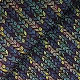 Glünz - Stoff - Softshell Zopfstrick blau - Meterware - 1