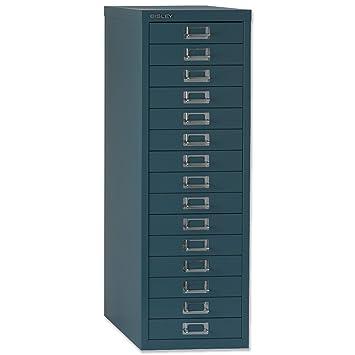 Bisley Steel Storage Cabinet 15-Drawer W279xD408xH860mm Doulton ...