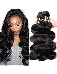 Yavida Cheveux Humains Bundles Vague de Corps 8A Non Transformés Péruvienne Vague de Corps Cheveux Extensions...