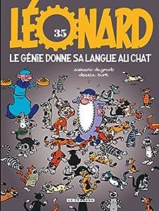 """Afficher """"Léonard n° 35 Le Génie donne sa langue au chat"""""""