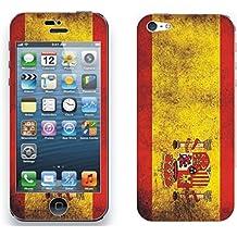 pegatina adesivo vinile sticker skin autocollant adesive Iphone 5/5s, bandera espana