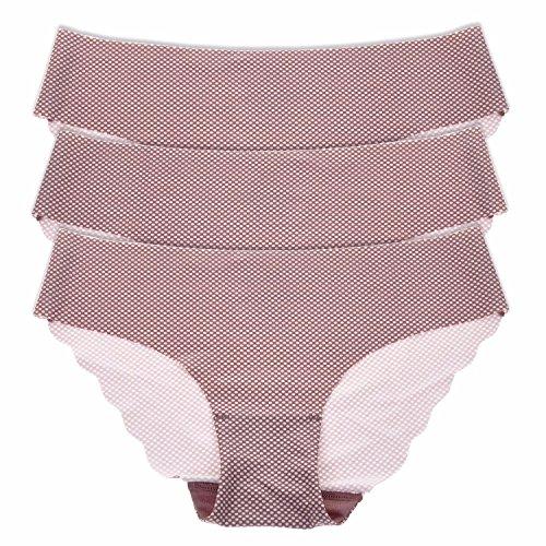La Isla Damen 3er Pack Komfort Slip - Tailored No Show Low Rise Bikini Hipster Mehrfarbig #6