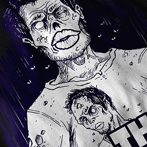 Mort Homme mort Baiser Zombi Femme S-2XL Sweat à capuche le dos | Wellcoda Noir