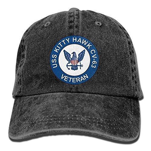 US Navy USS Kitty Hawk CV-63 Ship Veteran Unisex Adjustable Cotton Denim Hat Washed Retro Gym Hat Cap Hat