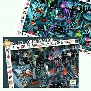 Djeco - Puzzle Djeco Observation Ville de Nuit 200 pièces Enfants 6 ans +
