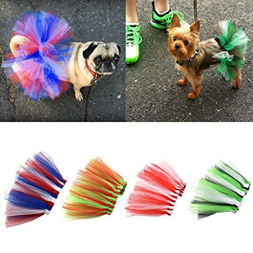 Autone Hund Tutu Kleid, Pet Puppy Katze Süße Prinzessin Spitze Rainbow Kleidung Kleidung, New