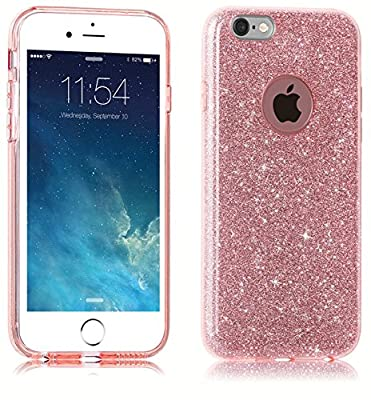iPhone 6 Case,iPhone 6S Case, uiano® Sparkling Premium [3 in 1 Layers Protection] Hybrid Glitter Bling TPU phone Case Cover For iPhone 6 6S