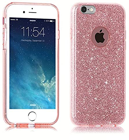 iPhone SE 5 5S Case, uiano® Sparkling Premium [3 in 1 Layers Protection] Hybrid Glitter Bling Bling TPU phone Case Cover For iPhone SE 5 5S