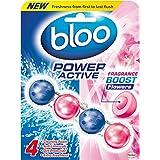 Bloo Puissance Active WC RIM Bloquer, fleurs fraîches, étui de 10