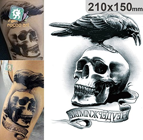 temporare-korperkunst-entfernbare-tattoo-aufkleber-schadel-4994-sticker-tattoo-temporary-tattoo-fash