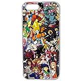 Générique Coque pour iPhone 5/5S/Se Motif Manga One Piece Dragonball Naruto Ichigo...