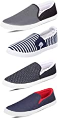 Scatchite Men's Canvas Combo Of 4 Casual Shoes
