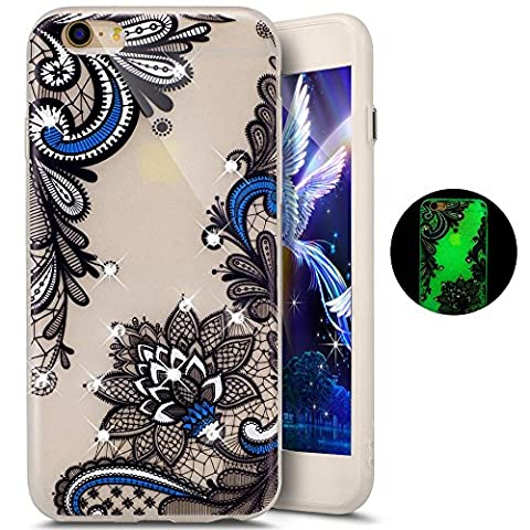 Paillette Coque pour iPhone 6S,iPhone 6 Bling Silicone Coque,iPhone 6
