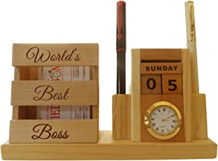 Tied Ribbons for The Best Boss_Table Top_Formal Gift_Desktop Accessory with Calender