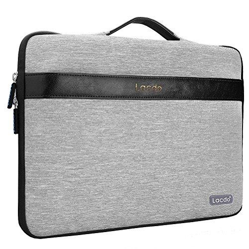 "Lacdo 14-15.4 Zoll Wasserdichte Laptop Sleeve H¨¹llen Notebook Tasche f¨¹r Macbook Pro 15"" Retina Desiplay / Protective Ultrabook ASUS, Toshiba, Dell, Lenovo, HP, Chromebook,Schwarz"
