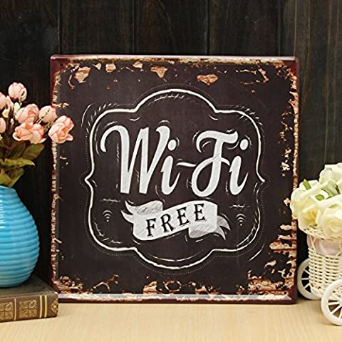 KING DO WAY ''WIFI FERR'' Vintage Painting Drawing Sign Pub