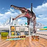 azutura Spinosaurus brüllen Fototapete Dinosaurier Tapete Kinderzimmer Wohnkultur Erhältlich in 8 Größen Extraklein Digital