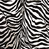 TOLKO Kurzhaar Kunstfell als Meterware - tolle Tierfell-Imitat Stoffe (Zebra)