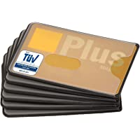 RFID Blocker Schutzhülle - 6 Stück - TÜV geprüft - Kunststoff - transparent - NFC Schutzhüllen - Kartenhülle für…