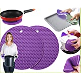 Celebrationgifts Silicone Anti Slip Coasters Trivets Mat Pads - 4Pcs (Assorted Colors )