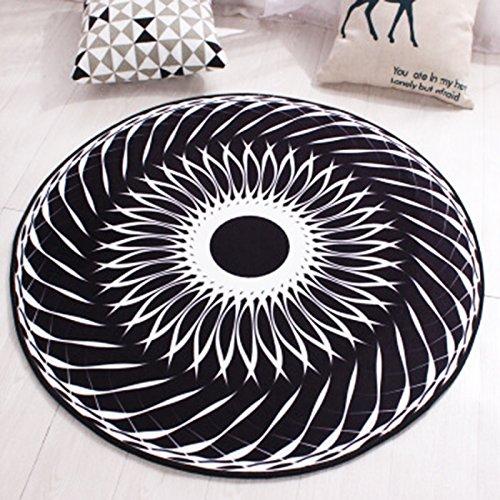 Mjb Teppich Wohnzimmer Schlafzimmer Couchtisch Sofa Zimmer Nachttisch Heimteppich Rund Chemische Faser Einfacher Stil Kreativer Teppich (Color : E, Size : 140cm) -