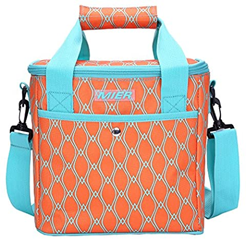 MIER 10L Insulated Lunch Bag for Women and Ladies, Waterproof Cool Bag Tote, Orange