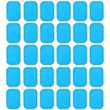 Amasawa 30 Tabletas EMS Gel Hojas,Gel Pad para EMS Electroestimulador Muscular Abdominales, EMS Gel Hojas para estimulador Mu