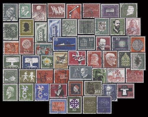 50 Briefmarken (Goldhahn BRD Sondermarken