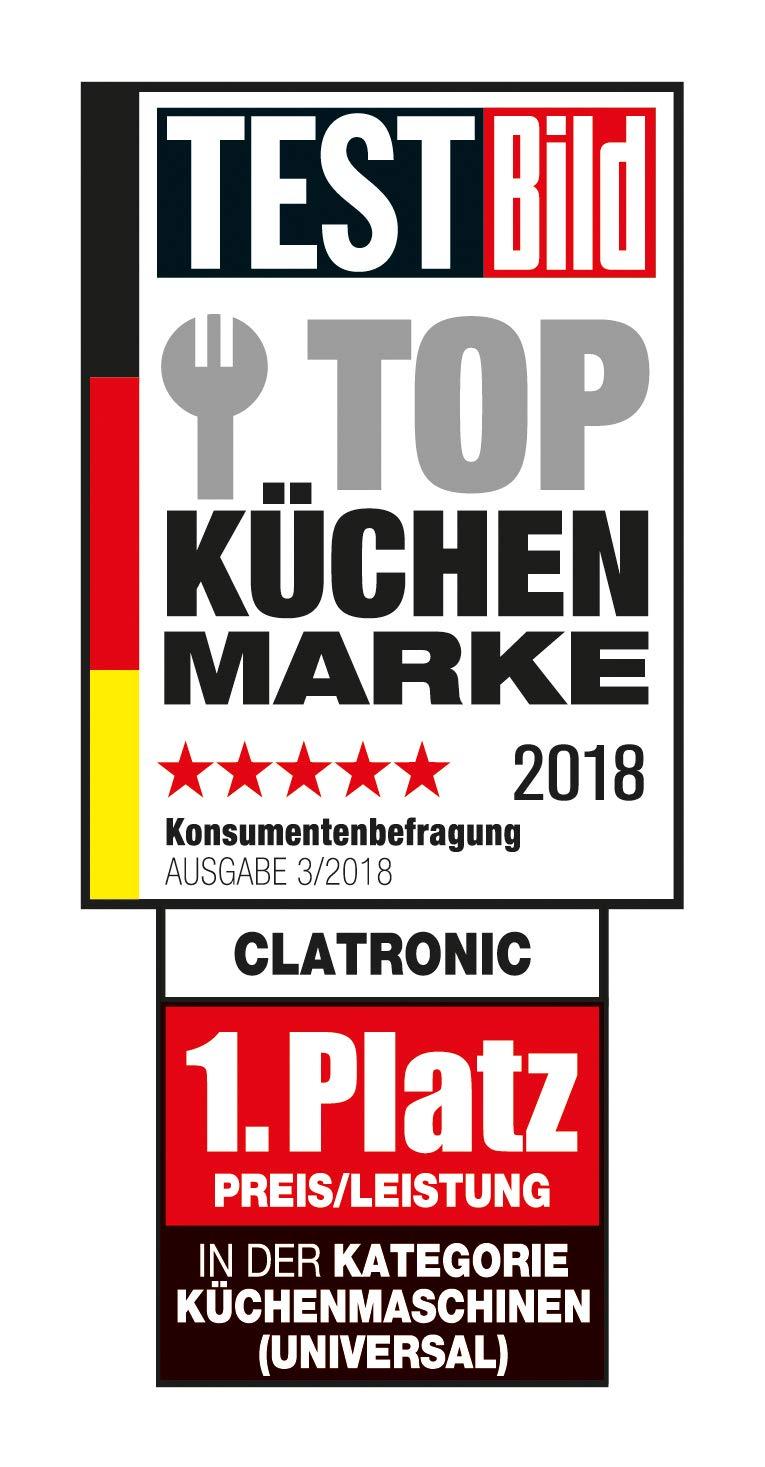 Clatronic-KM-3648-leistungsstarke-multifunktionale-Kchenmaschine-1000-W-5-L-Edelstahlrhrschssel-titan