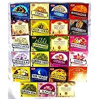 Räucherkegel Mix 23 verschiedene HEM je 10 Stück Cannabis Rose Sandelholz Opium Weihrauch preisvergleich bei billige-tabletten.eu