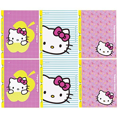 trapper-keeper-hello-kitty-2-pocket-folders-with-snapper-trapper-by-mead-assorted-designs-6-pack-734
