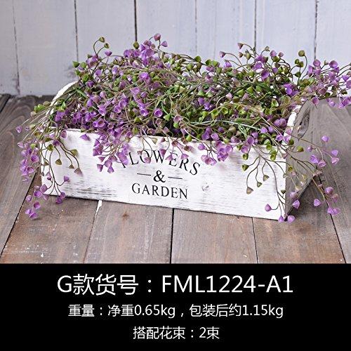 Kreative Topfpflanzen fleischigen Emulation Ornamente Topfpflanzen grün-sik, G, künstliche Blumen (Quilt-eimer Tasche)