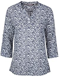 Mountain Warehouse Petra Printed Women's 3/4 Sleeve Shirt -100% Cotton Summer Top, Lightweight Ladies Shirt, Breathable, Floral Print Blouse - For Everyday Use