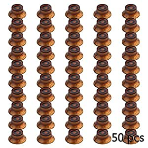 * 50 boutons LP orange cloche Guitare Top Hat Boutons correspond LP SG