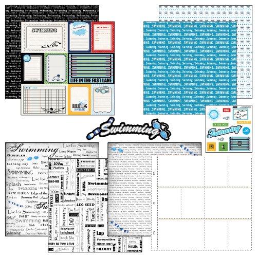 Scrapbook Customs Motivpapier und Aufkleber Scrapbook-Kit Schwimmtagebuch